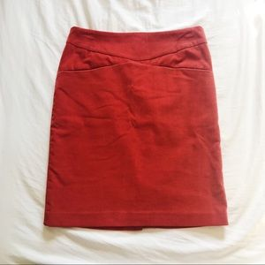 Harvey Faircloth Red/Orange Corduroy Skirt